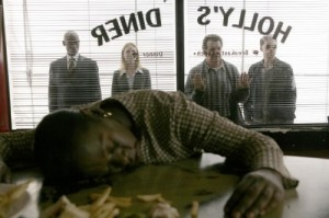 Broyles, Olivia, Walter and Peter must find what killed a diner full of people.