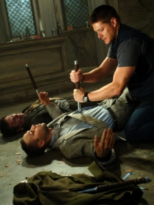 Dean must kill the dead that Samhain raised.  Photo courtsey of CW