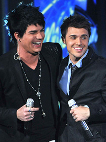 Two very talented men -- Adam and Kris.  Photo courtesy of American Idol